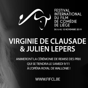 Virginie de Clausade et Julien Lepers